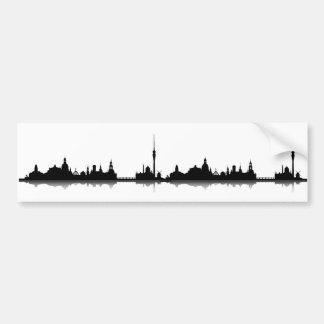 Dresden skyline stickers bumper sticker