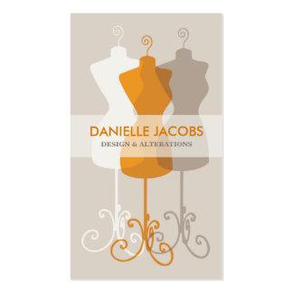 Dress Form Fashion Design Pack Of Standard Business Cards