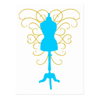 Dress Form with Swirls - Design Goddess Postcard