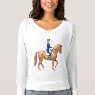 Dressage Horse Bella Flowy Ladies Shirt