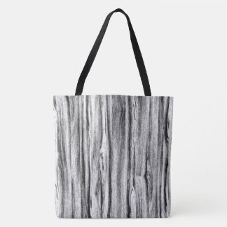 Driftwood pattern - black, white and grey tote bag