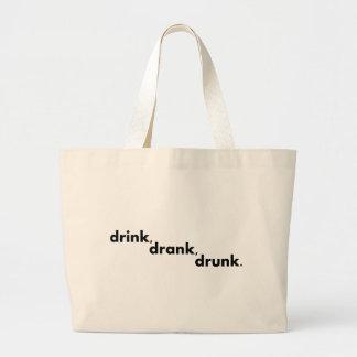 Drink, Drank, Drunk Jumbo Tote Bag