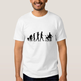 Drum Set Drummers Funny Drumming Music Evolution Tshirt