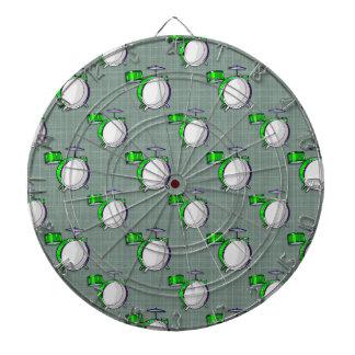 Drum Set; Neon Green Drums Dartboard