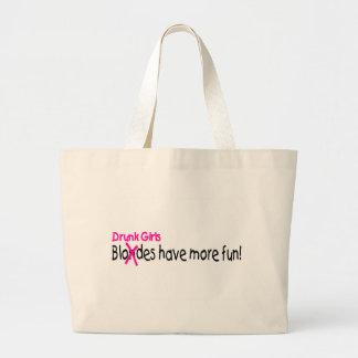 Drunk Girls Have More Fun Jumbo Tote Bag