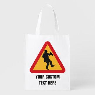 Drunk Warning custom reusable bag