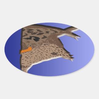 Duck Butt Oval Sticker