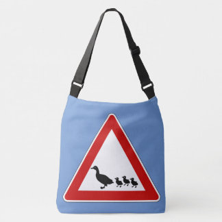Duck crossing tote bag