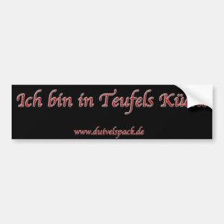Duivelspack - autostickers of devil kitchen bumper sticker