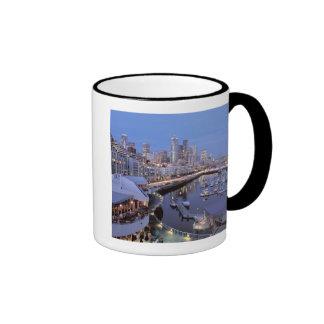 Dusk on Bell Harbor in Seattle, Washington. Ringer Mug