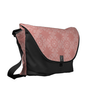 Dusty Pink Floral Pattern Commuter Bags