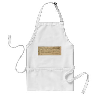 Early American Revolutionary War Lottery Ticket Standard Apron