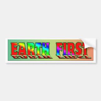earth first bumper sticker