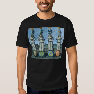 Earth, Water, Air, Fire - Alchemical Elements Tee Shirt