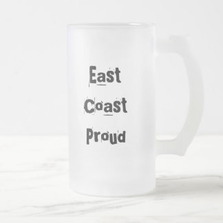 East Coast Proud Frosted Glass Frosted Glass Mug