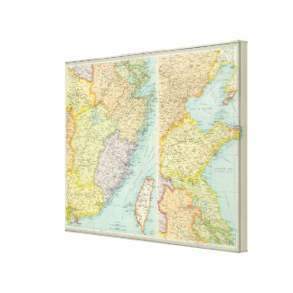 Eastern China political map Canvas Print