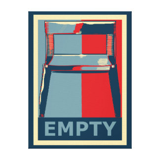Eastwooding the Obama Chair Funny Political Gallery Wrapped Canvas