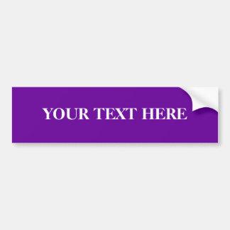Easy Custom Bumper Sticker Template, Purple