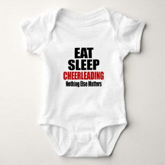 EAT SLEEP CHEERLEADING T SHIRTS