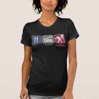 Eat Sleep Kill Zombies Tee Shirts