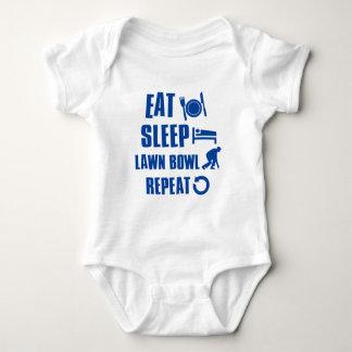 Eat sleep lawn bowl infant creeper