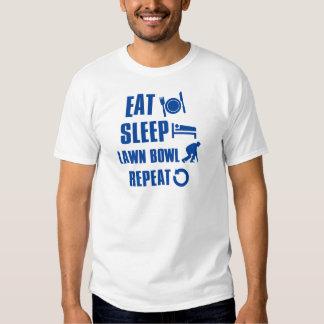 Eat sleep lawn bowl tshirt