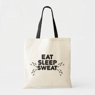 eat sleep sweat - funny sports budget tote bag