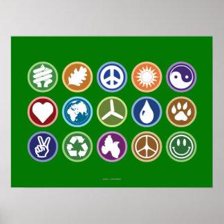 Eco Symbols Poster
