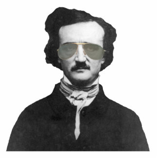 Edgar Allan Poe in Sunglasses Photo Sculpture Key Ring