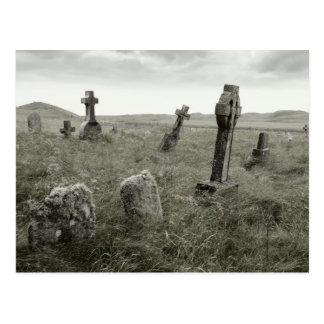 Eerie Gravesite Postcard