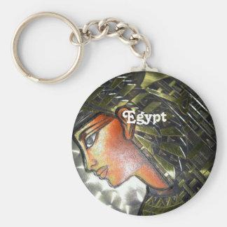 Egypt Art Basic Round Button Key Ring