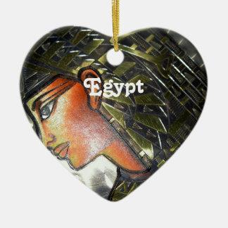 Egypt Art Ceramic Heart Decoration