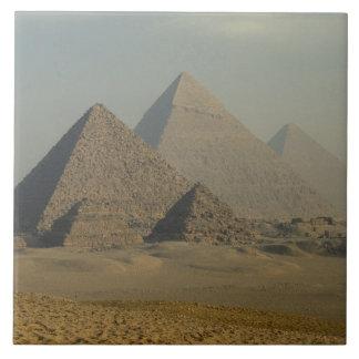 Egypt, Giza, Giza Pyramids Complex, Giza Plateau Large Square Tile