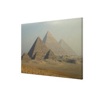 Egypt, Giza, Giza Pyramids Complex, Giza Plateau Stretched Canvas Prints