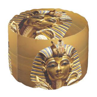 Egypt King Tut Round Pouf Round Pouffe