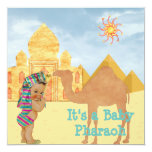 Egyptian Baby Shower Invitation with Vintage Baby