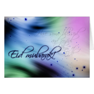 Eid greeting - Eid mubarak greeting card