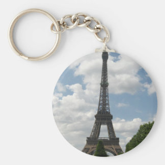 Eiffel Tower Basic Round Button Key Ring
