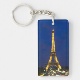 Eiffel Tower Double-Sided Rectangular Acrylic Key Ring