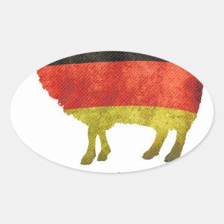 Eine Nation von Schafen kann nur eine Regierung .. Oval Sticker