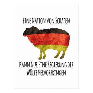 Eine Nation von Schafen kann nur eine Regierung .. Postcard