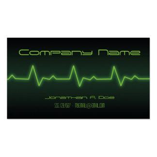 EKG Neon Pack Of Standard Business Cards