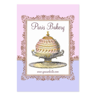 Elaborate Victorian French Cake for Elegant Baker Pack Of Chubby Business Cards