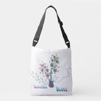 Electric Blues Guitar Music Tote Bag