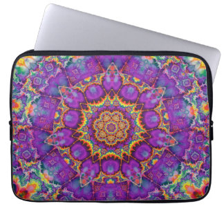 Electric Flower Purple Rainbow Kaleidoscope Art Laptop Computer Sleeves