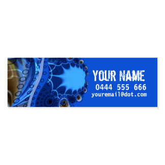 ELECTRIC Fractal Profile Card Pack Of Skinny Business Cards
