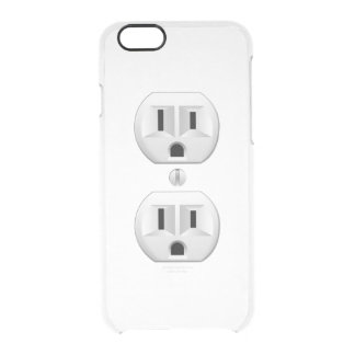 Electrical Plug Wall Outlet Fun Customize This Clear iPhone 6/6S Case