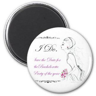 Elegance_bachelorette party 6 cm round magnet