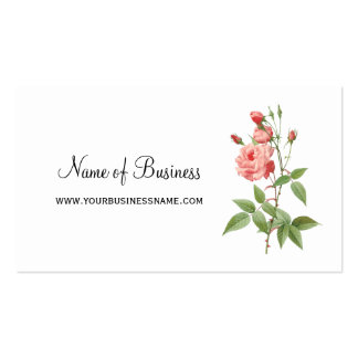 Elegant and Feminine Pink Rose Floral Pack Of Standard Business Cards