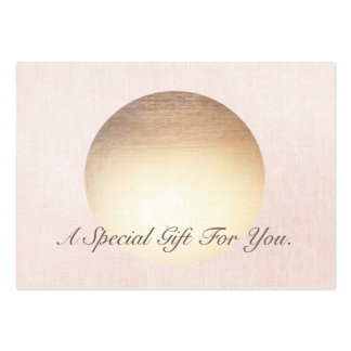 Elegant and Modern Gold Moon Gift Certificate Pack Of Chubby Business Cards